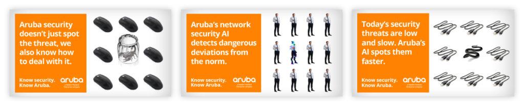 Aruba 360 Network Security campaign ads