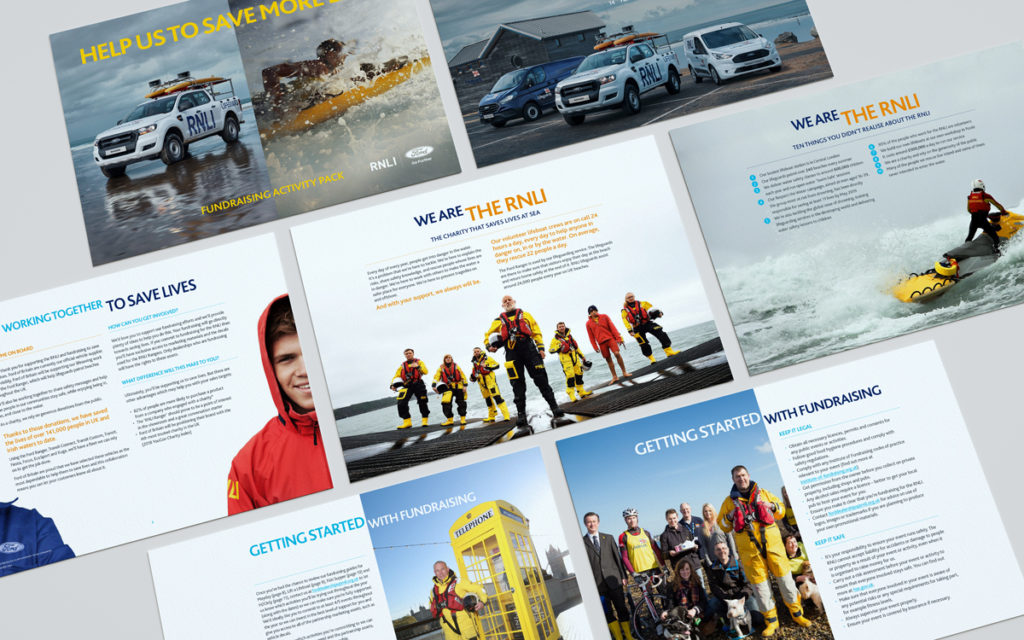 RNLI Ford partnership awareness campaign fundraising pack