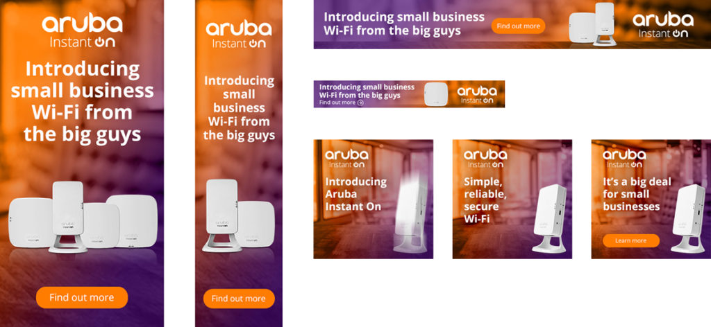 Aruba Instant On display banners