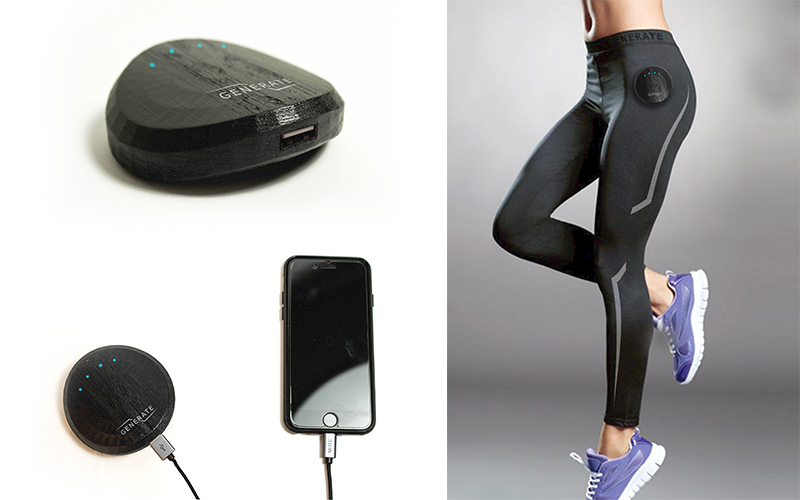 Generate Product shots. Showing its sustainable design that lets it charge your phone with your body movement.