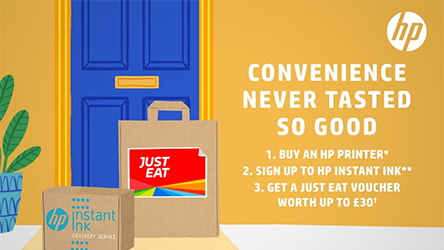 HP Instant Ink and Just Eat